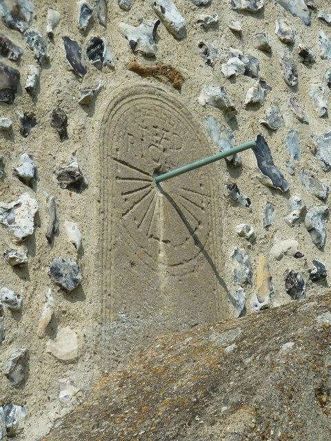 St Andrew's Church, Bishopstone- sundial