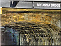 SD5805 : Britannia Bridge Inscription by David Dixon