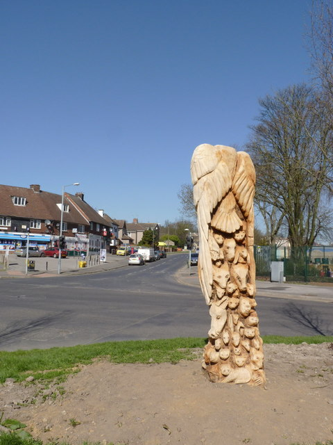 Sculpture at Hallowmoor Road