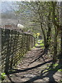 SK3189 : Footpath below Studfield Hill by Alan Murray-Rust