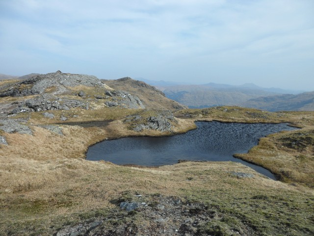 Small lochan at the Beinn a'Chroin summit
