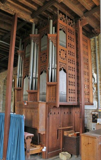 Organ In St Andrew S Church Denton 169 J Hannan Briggs Cc By Sa 2 0 Geograph Britain And Ireland