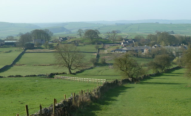 View down to Grindlow