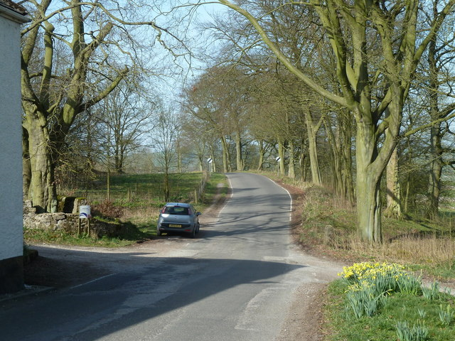 Lane leaving Great Hucklow to the west
