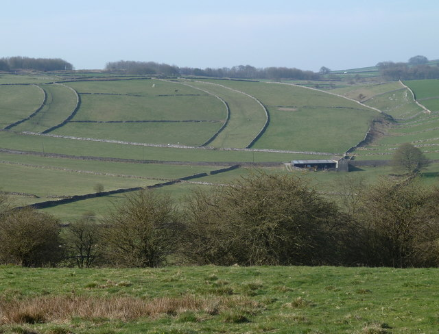 Field pattern near Little Hucklow
