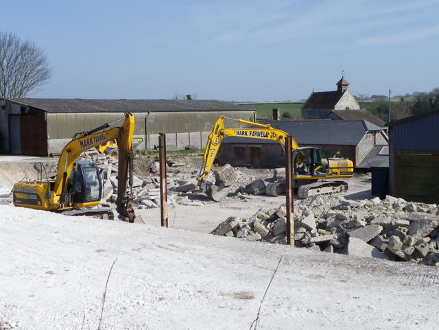 Demolition work, Fifield Bavant