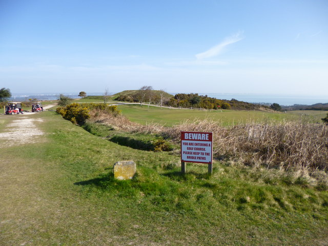 Godlingston Heath, warning sign