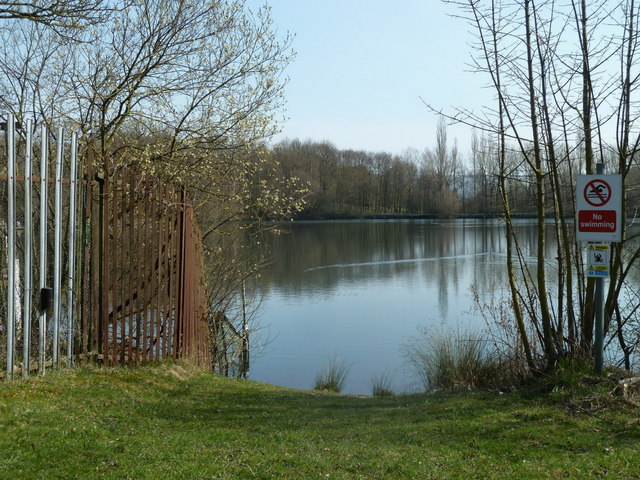 Fishing lake in a former quarrying area