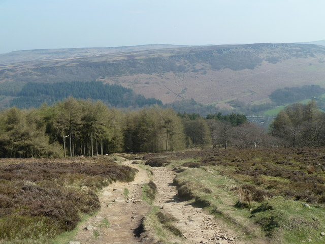 Path descending east of Win Hill