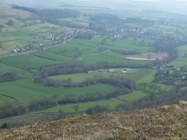 Overlooking the River Derwent and Bamford