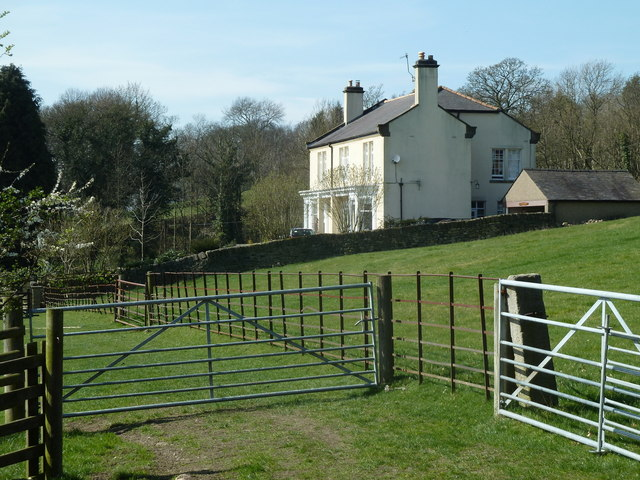 Field and house in Aston