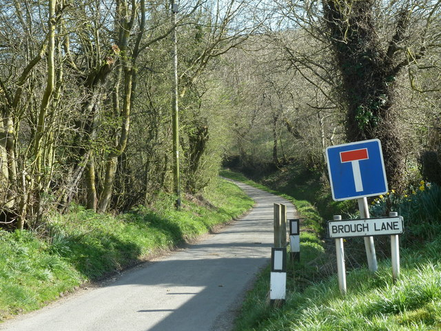 Brough Lane leaving the village