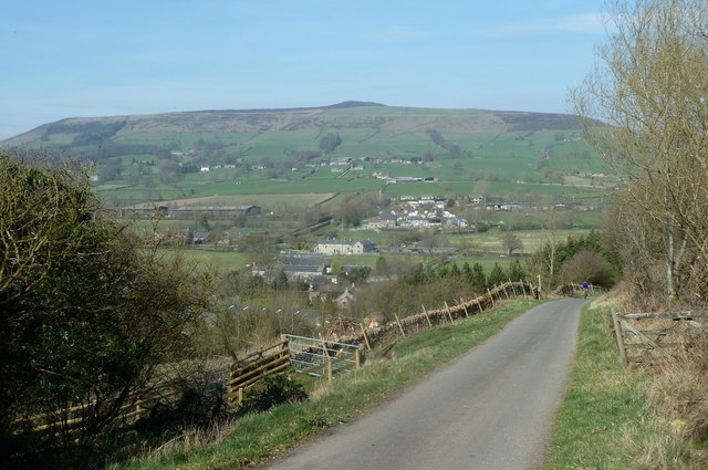 Brough Lane and view to Win Hill