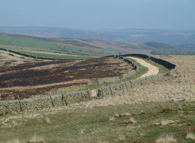 Moorland view and track