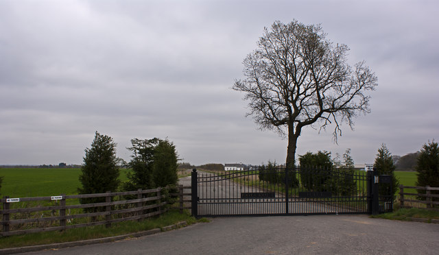 The entrance and drive to Holcroft Hall
