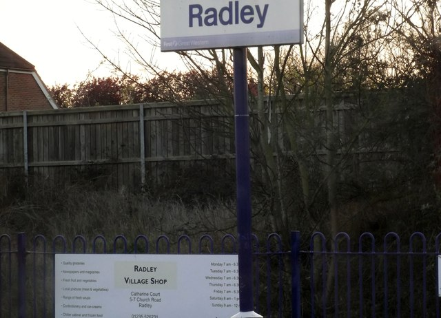 Sign, Radley Railway Station