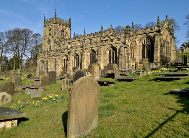 St Nicholas church, High Bradfield