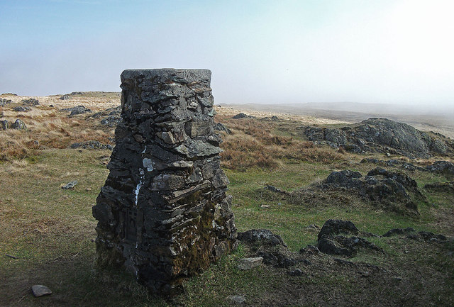 Trig pillar, Kentmere Pike
