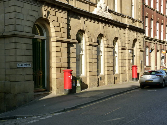 County Court Hall with postboxes