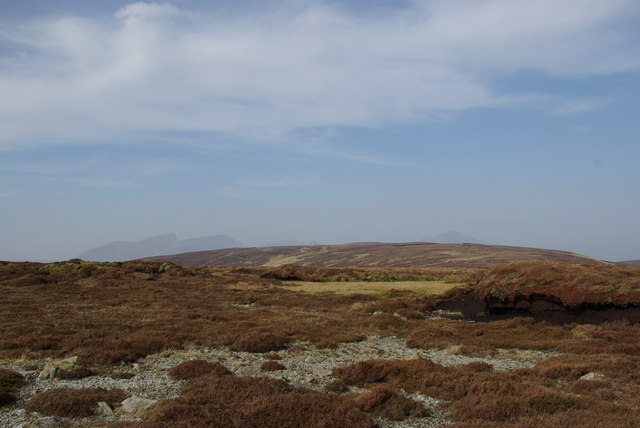 Peat hags around the summit of Creagan Liatha