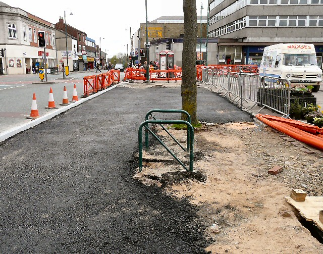 New tarmac by Market Street
