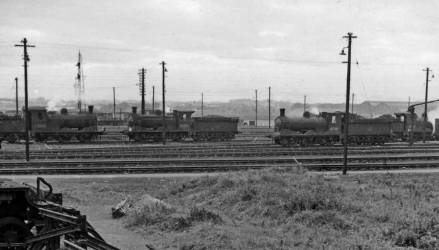 Ex-NB 0-6-0s abound in the Locomotive Yard at Bathgate