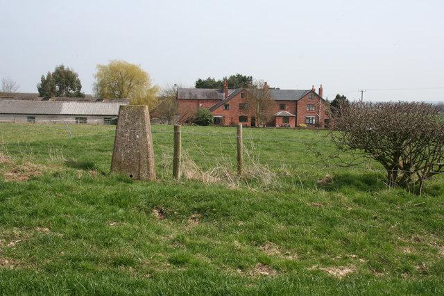 Trig point near Mickley Hall