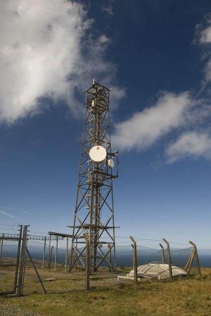 Phone Mast, Beinn Tart a' Mhill, Islay