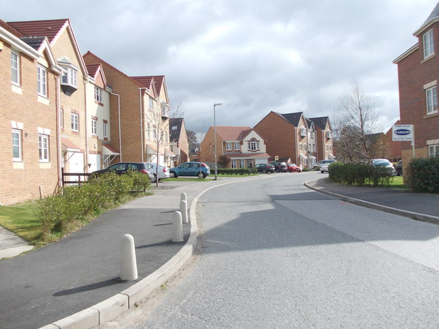 Burnley's Mill Road - viewed from Ringshaw Drive