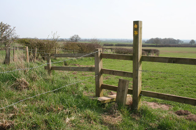 Stile on the South Cheshire Way