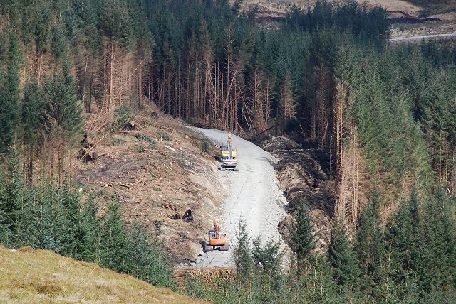 West Loch Awe Timber Haul Route under construction through Inverliever Forest