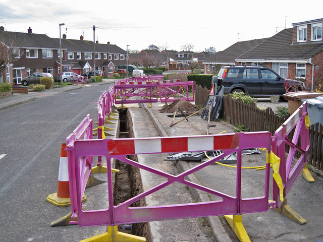 Road works in Longdown Road