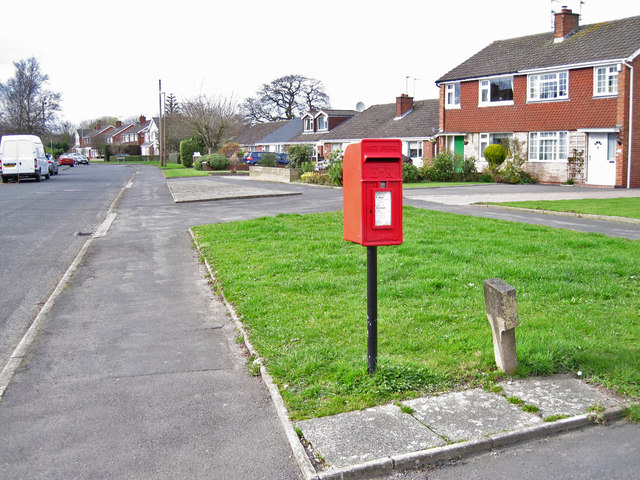 Post box in Longdown Road, West Heath