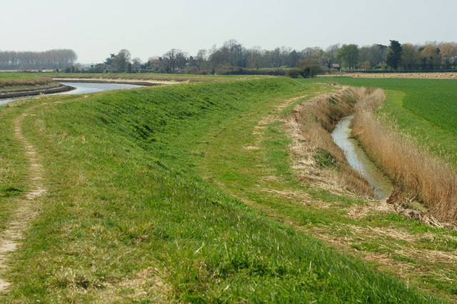 Drainage Ditch Beside the River Arun, Sussex