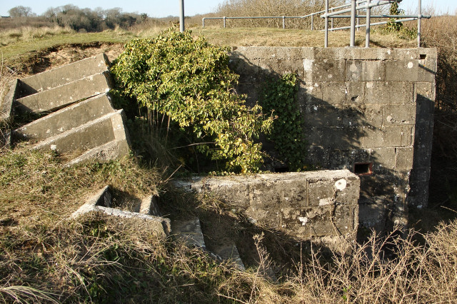 Structure at disused rifle range, Merthyr Mawr Warren (2)