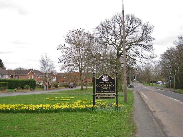 A54 entering Congleton