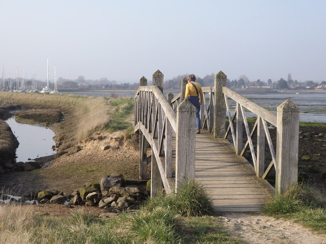 Footbridge South of Thornham Marina