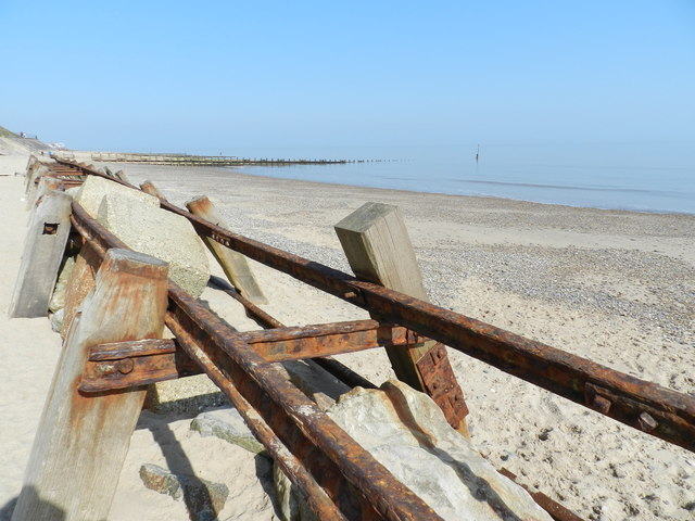 Groynes on Hornsea Beach
