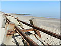 TA2147 : Groynes on Hornsea Beach by Peter Barr