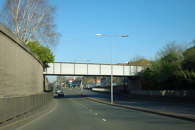 Railway bridge over Ewell Bypass