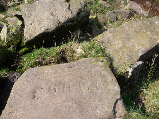 Carved stone in the Caerfanell Valley