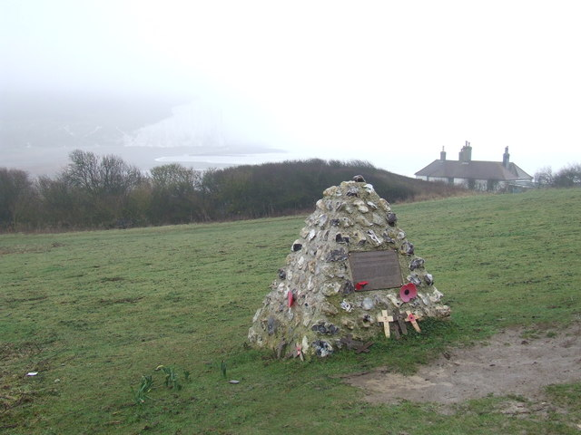 War memorial at Cuckmere Haven