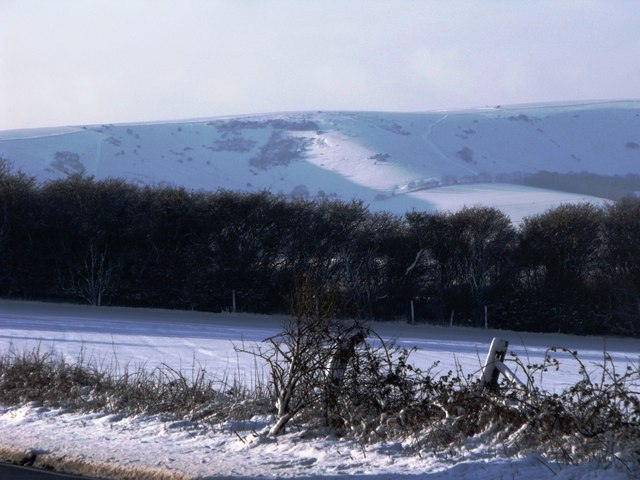 Looking towards Front Hill, South Downs