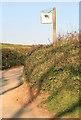 SX4862 : Porsham Farm Lane and sign by roger geach