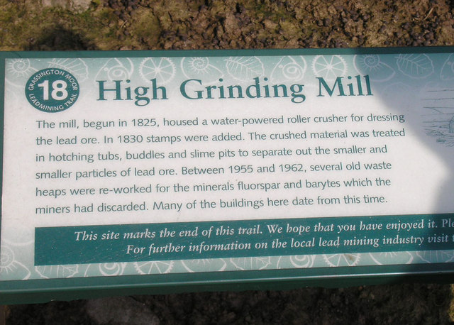 Information board at High Grinding Mill