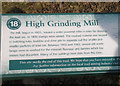 SE0266 : Information board at High Grinding Mill by John Illingworth