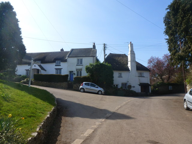 Road junction in East Ogwell, near Newton Abbot