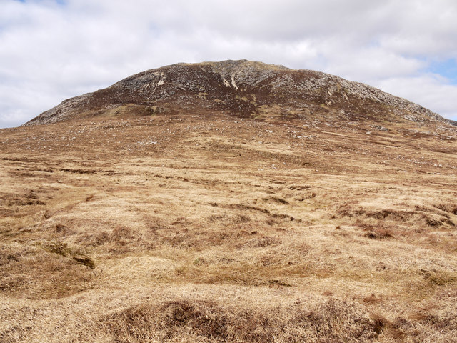 Moorland slope rising over Guala Riabhach