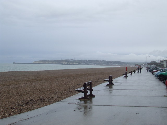 Benches on the shore, Seaford