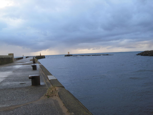Ayr Harbour Pier and Entrance